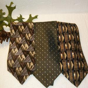 3 Men's Neckties Bergamo, Lamberti & Grateful Dead